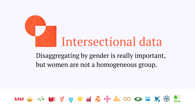 Intersectional data with SDG icons and text